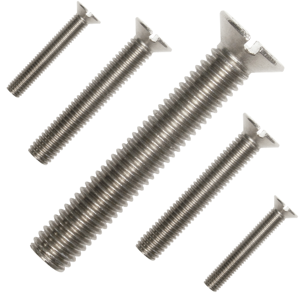 A2 Stainless Slotted Countersunk Machine Screws